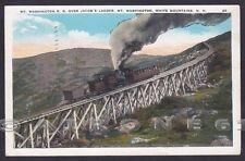 USA FERROVIA MONTE WASHINGTON TRENO Cartolina viaggiata 1934