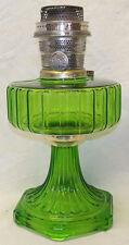 Old Antique Aladdin Green Glass Corinthian Pattern Model B Burner Oil Lamp