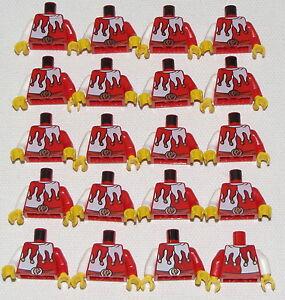 Lego-Lot-Of-20-Nouveau-Rouge-et-Blanc-Bouffon-Joker-Chateau-Royaumes-Torsos