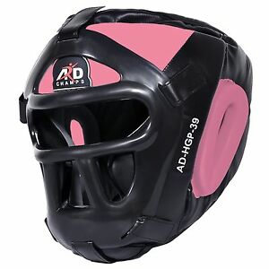 ARD CHAMPS™ Protector Guard Wrestling Helmet Head Gear Boxing MMA Rugby- Pink