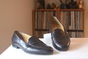 3d872739ae4 Moreschi Black Leather Moc Penny Loafers EUR 10 1 2 US 11 1 2 Made ...