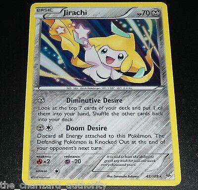 Jirachi 42/108 XY Roaring Skies NEAR MINT Holo Rare Pokemon Card