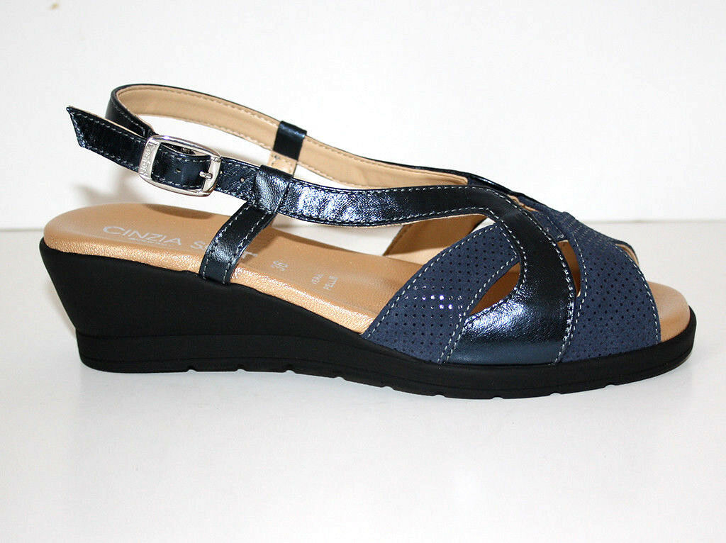 Cinzia Soft femmes IO3690-CS 002 Sandalo Pelle bleu