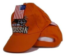 Redneck Deer Assassin Hunting Buck Orange Hunter Embroidered Cap Hat