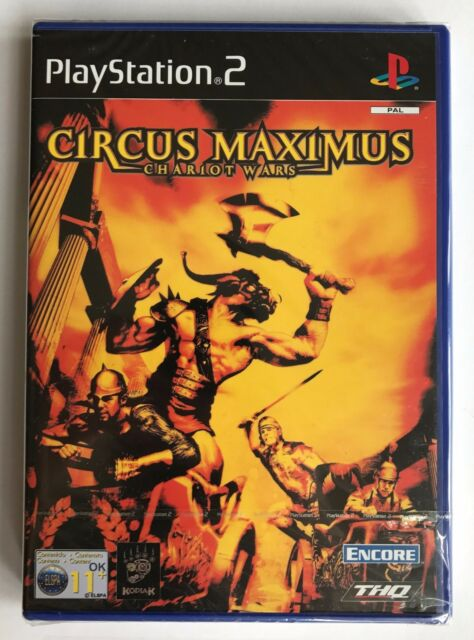 PS2 Circus Maximus: Chariot Wars (2002), UK Pal, New & Factory Sealed, Flawed
