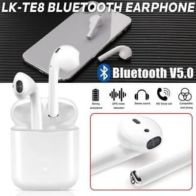 Qi Binaurali TE8 earphones 5 ricarica 0 Bluetooth Auricolari LK airpods Smart ZSvwCqwp