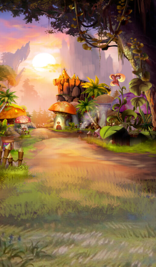 3D Fairy tale forest sunrise  Wall Paper Wall Print Decal Wall Deco AJ WALLPAPER