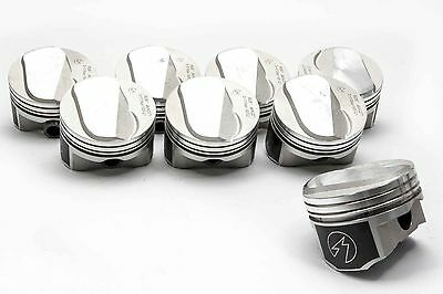 """.020/"""" Speed Pro//TRW Chevy 350//5.7 Forged Flat Top Coated Skirt Pistons Set//8"""