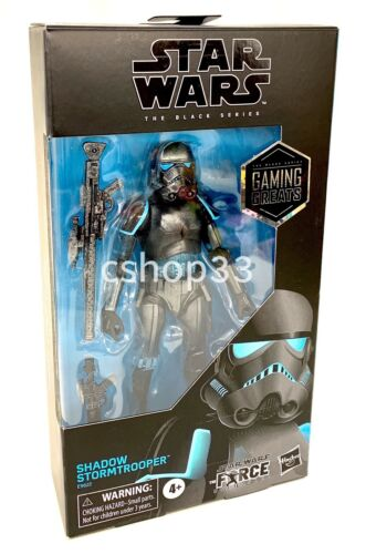 """Star Wars Black Series SHADOW STORM TROOPER 6"""" Game Stop The Force Unleashed"""