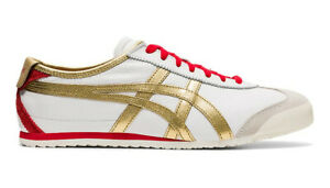 Onitsuka Tiger Mexique 66 Baskets Blanc Or Pur Rouge ASICS cuir 1183A788-102