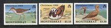 Montserrat 703-705 MNH Birds: Spotted Sandpiper, Ruddy Turnstone,..  1988 x19007