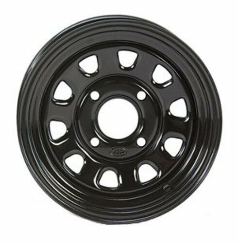 2-ITP Delta Black Steel Wheel Rear Suzuki 05-14 450//700//750 King Quad 371363