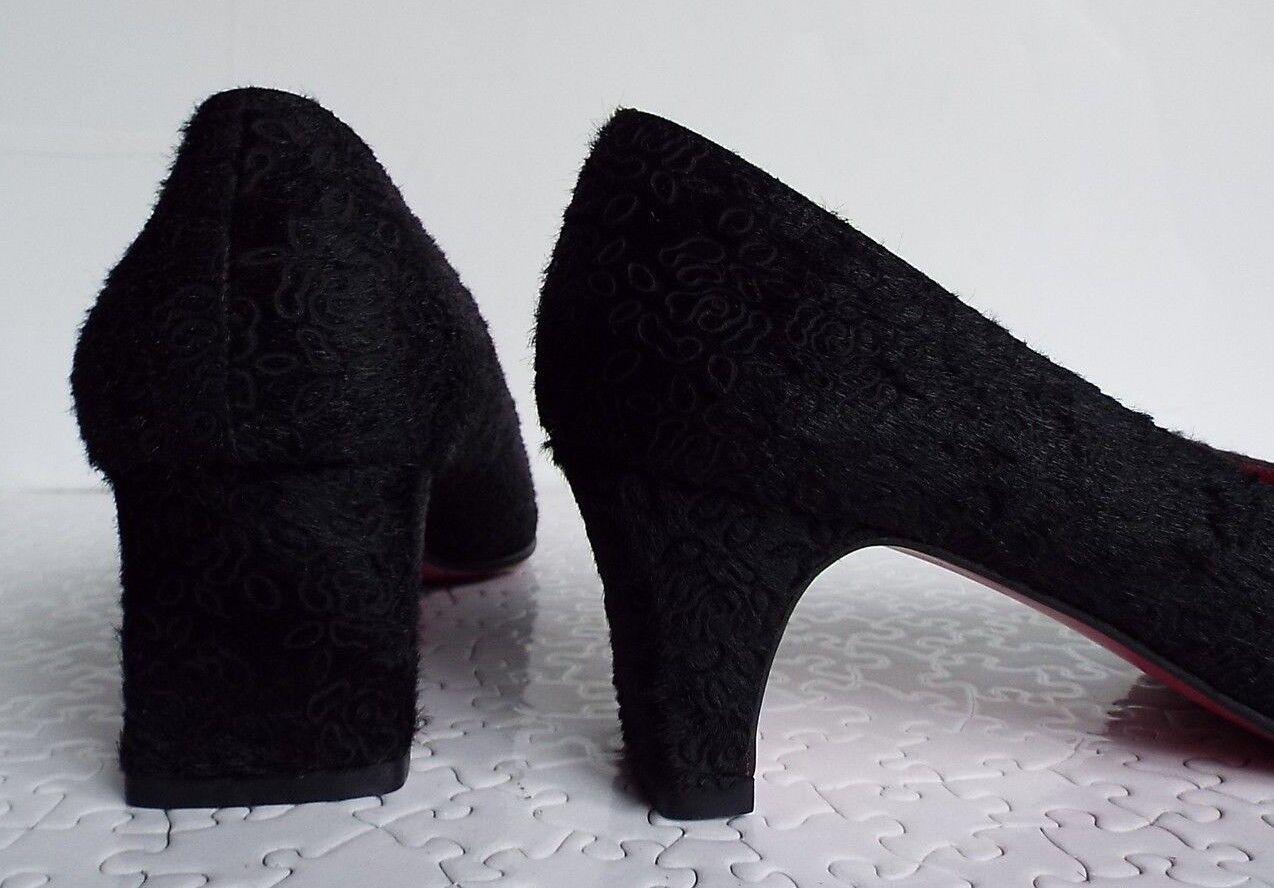 EMANUEL UNGARO 4.5 37 nero Pony in Pelle Tacco Tacco Tacco Medio   Fashionable  96e860