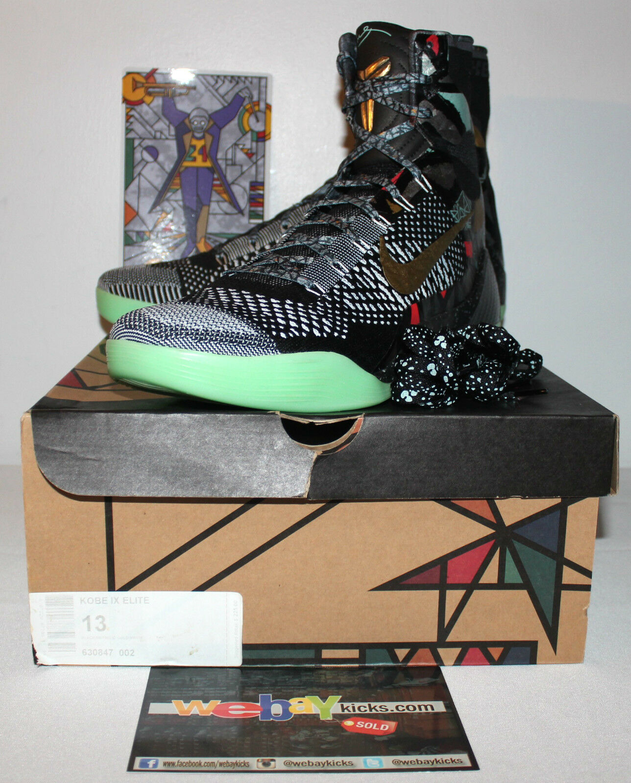 Nike Air Kobe 9 IX Elite Nola Allstar Gumbo Multi Sneakers Men's Comfortable Seasonal price cuts, discount benefits