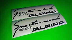 2x Deportes mente alpina Deporte Pegatina de coche calcomanías con el logotipo de deporte