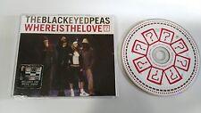 THE BLACK EYED PEAS WHERE IS THE LOVE? MAXI SIGLE CD 4 TRACKS MEGA RARE!!!