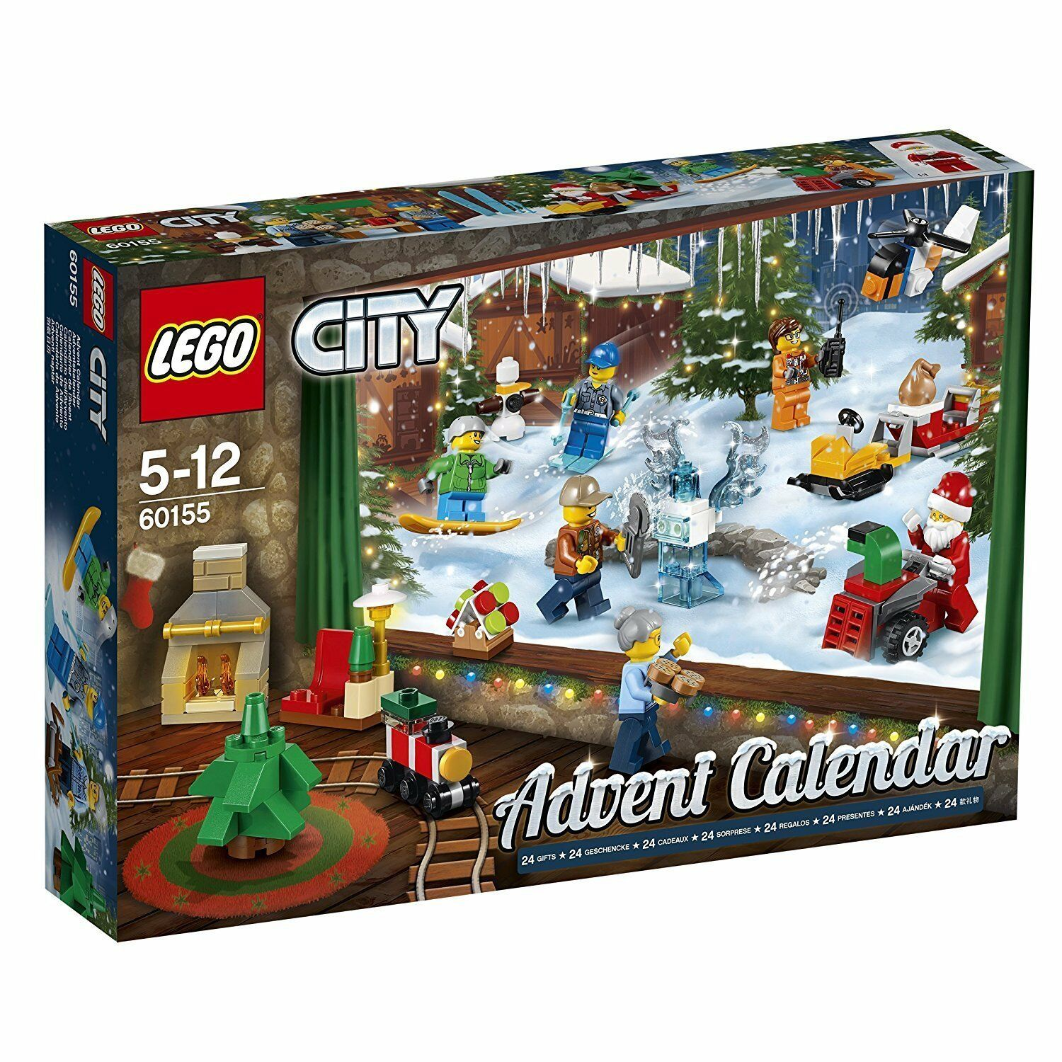 Lego City Advent Calendar Dated 2017 (Retired) 24 Gifts, Santa, Mini-Figs