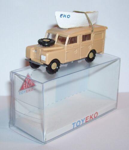 CANOE REF 6001 BOX MICRO TOY EKO TOYEKO HO 1//86 1//87 SPAIN LAND ROVER SAFARI