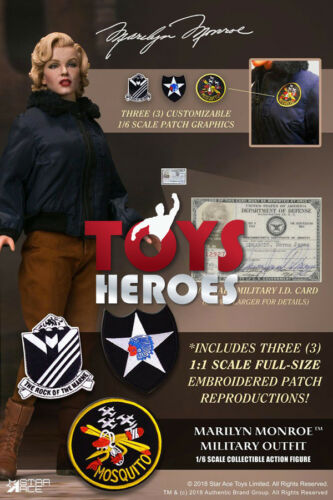 STAR ACE SA0055 MARILYN MONROE MILITARY OUTFIT 1//6 Preorder