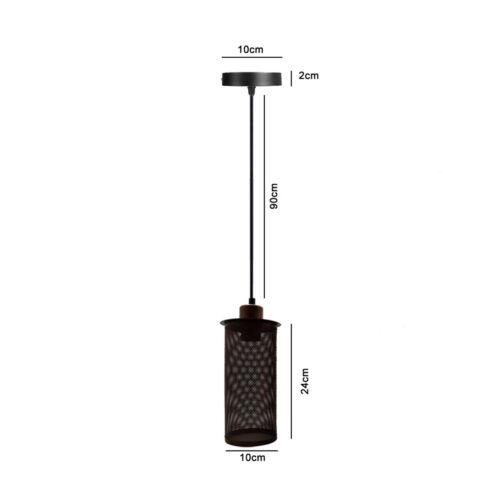 E27 Vis Rosace Plafond Lumière Rustique Rouge Cage Lumière Pendentif Support Montage Lampe