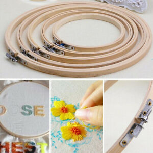 13-30cm-Wooden-Bamboo-Hoop-Ring-Frame-for-Embroidery-Cross-Stitch-Sewing-Craft