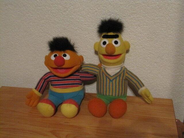 Jim Henson Sesamstraße Ernie & Bert 42 x 40 cm Puppe Stofftier mit Sound Element