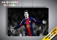 Poster Messi Barcelona Celebration Wall Art