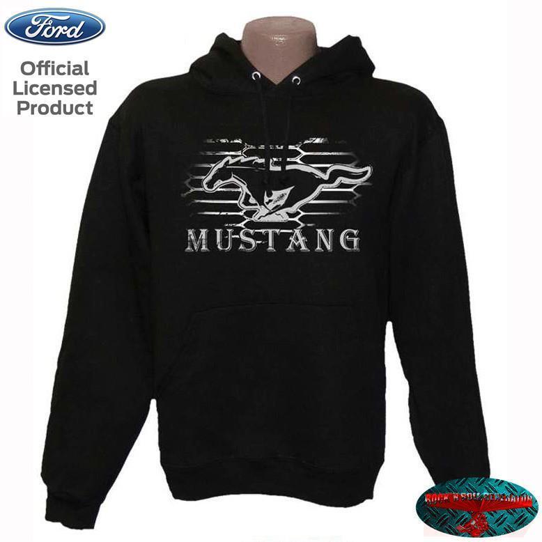 FORD MUSTANG Kapuzenpullover Hoodie Grille Licensed Product US Emblem Shirt Hemd