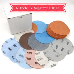 10pcs 5 Inch Waterproof Hook And Loop Wet/dry Auto Body Film Sanding Discs