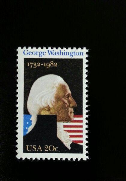 1982 20c George Washington, 250th Anniversary Scott 195