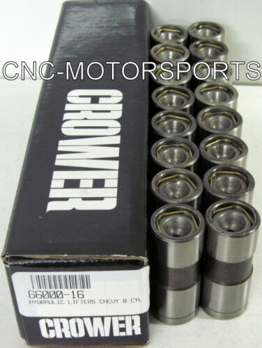 66000-16 Crower Flat Face Hydraulic Flat Tappet Lifters SB//BB Chevy