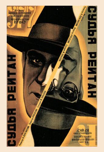 RUSSIAN AVANT GARDE Poster Russian Film Yellow Russian Constructivism Poster