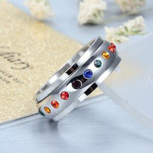 HotRainbow-Rhinestone-Crystal-Ring-Rotating-Spinner-Stainless-Steel-RingsFashion