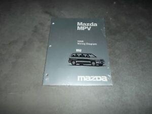 1998 Mazda MPV Passenger Van Electrical Wiring Diagram ...