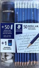 Staedtler 50 Norica Graphite Hb2 Pencils 50 Eraser Caps 1 Sharpener