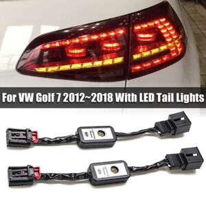 Semi-Dynamic-LED-Indicator-Flasher-Minibox-Adapters-Rear-Light-For-VW-Golf-Mk-7