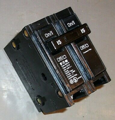 NEW Eaton Cutler Hammer C215 BR215 2 pole 15 amp Circuit Breaker