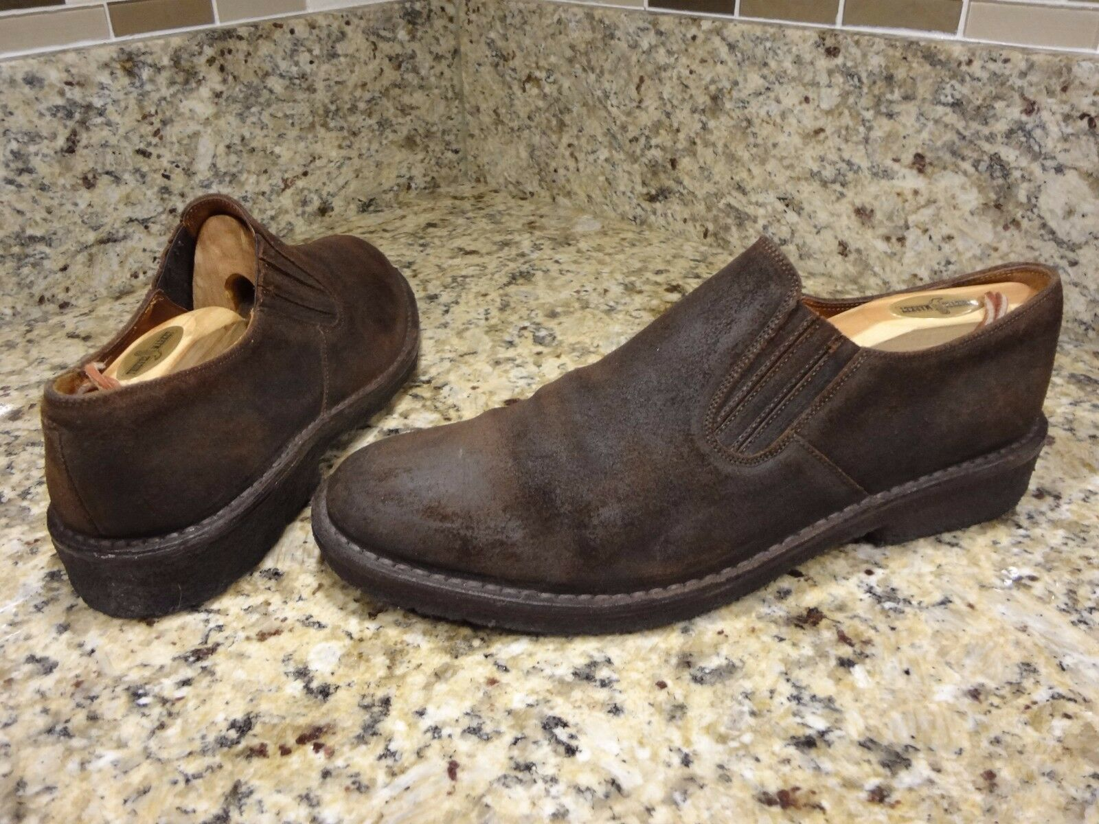 RALPH LAUREN  SHOES MEN USA 11 D MADE IN ITALY RUSTY SUEDE  LOAFER