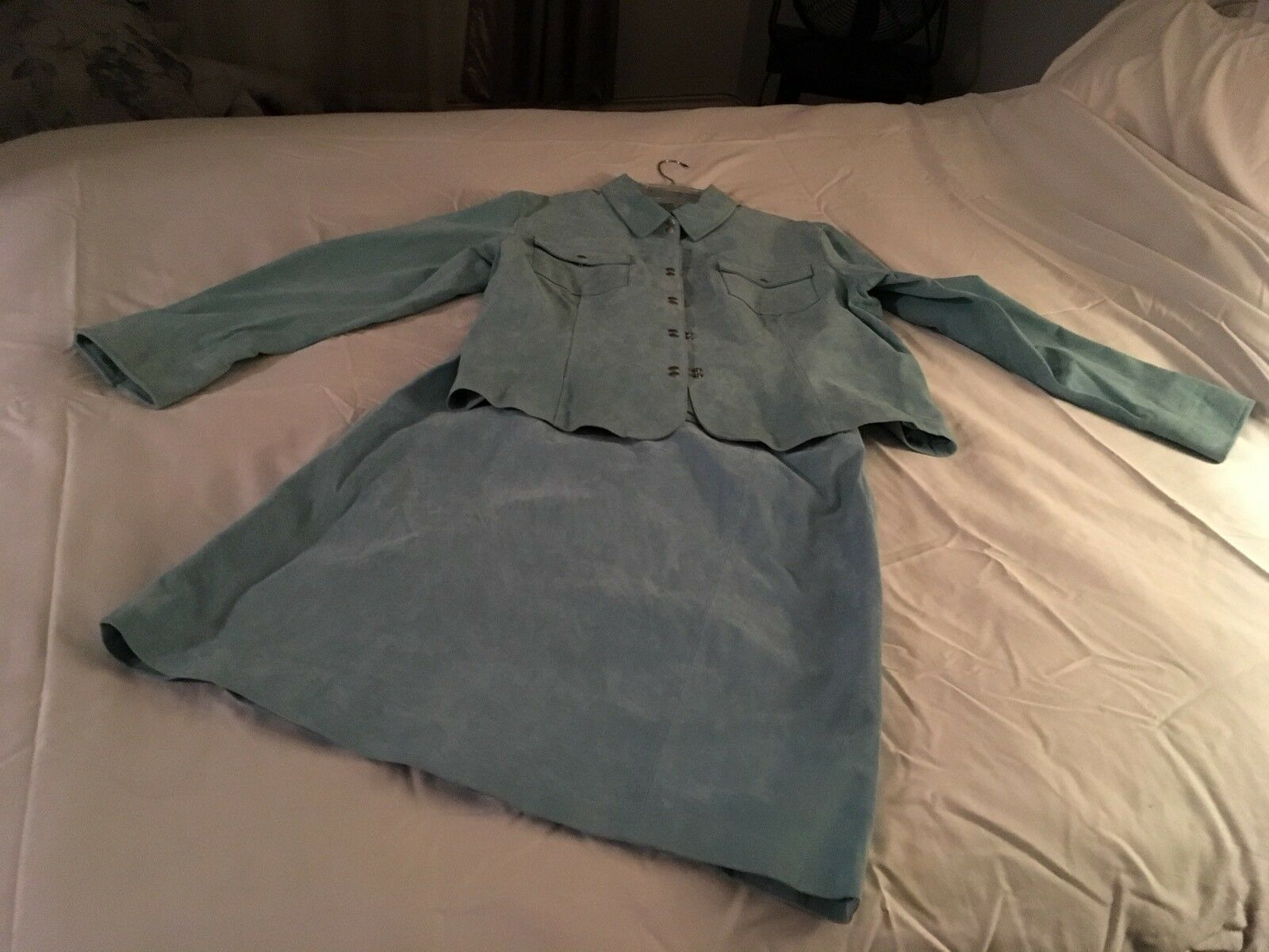 Womans Alice bluee 2 pc Leather Suit Lined XXL_bluee_Includeds Ship to Ontario