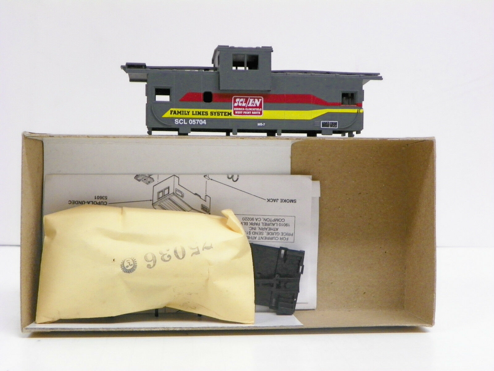 BEV-BEL ATHEARN HO U A FAMILY LINES SYSTEM  WEST POINT ROUTE  29' W. V. CABOOSE