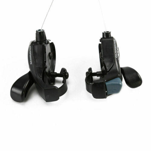 2pcs Outdoor Mountain Bicycle TX-30 Thumb 3X7 Speed Thumb Gear Shift Lever Set L