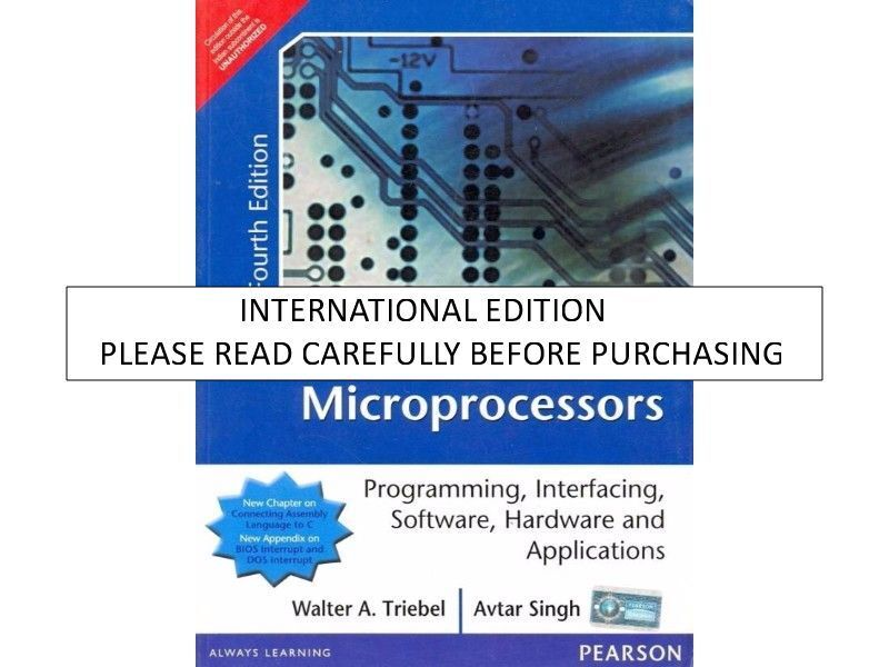 8088 And 8086 Microprocessor By Avtar Singh Pdf