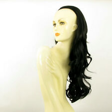 DT Half wig HairPiece extensions long wavy black 25.6  REF :15/1b