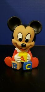 Mickey Mouse ABC Kids Toy Baby Squeaker Toy Shelcore Disney 1984 1986