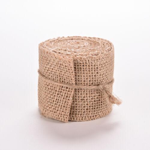 3M Rustic Natural Jute Wedding Belt Straps Floristry Hessian Burlap Ribbon HDUK