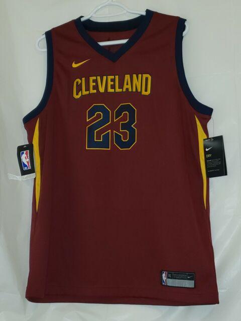 0c132c6f1135  NWT   70 NIKE Youth Cleveland Cavaliers LeBron James  23 Swingman Jersey  Sz XL