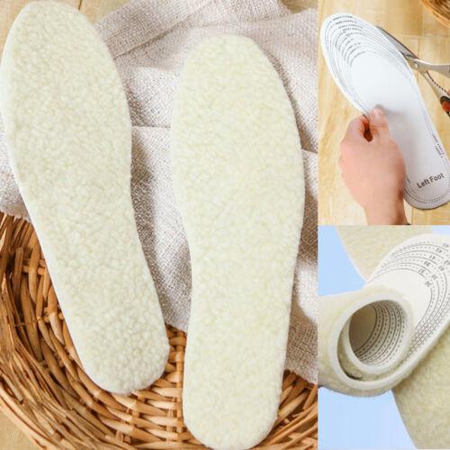 Winter Warm Soft Wool Insoles Men Women Shoe Pads Comfy Womens Boots Inserts New