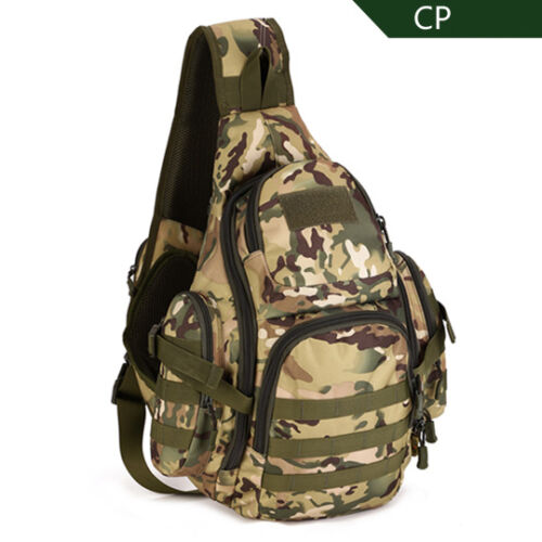 Tactical Military Hiking Travel Shoulder Bag Day Pack Sling Chest Pouch Backpack