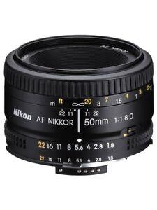 Nikon-AF-NIKKOR-50mm-f-1-8D-Lens-For-D750-D800-D810-D1X-D7000-D7500-DSLR-Cameras