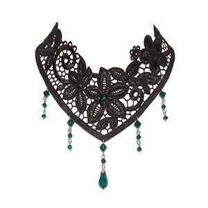 Victorian gothic lace choker necklace goth Emerald green NOCTURNE steampunk - Edinburgh, United Kingdom - Victorian gothic lace choker necklace goth Emerald green NOCTURNE steampunk - Edinburgh, United Kingdom